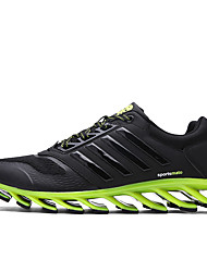 cheap -Shoes Fall Novelty Walking Shoes Lace-up for Outdoor Black/White Black/Green