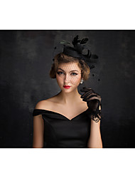 Tulle Flax Feather Net Fascinators Headpiece