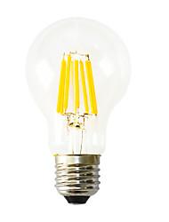 1pç 640-800 lm E26/E27 Lâmpadas de Filamento de LED B 8 leds COB Decorativa Branco Quente AC 220-240V