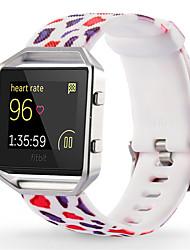 abordables -Rojo / Verde / Rosa Silicona Correa Deportiva Para Fitbit Reloj 23mm