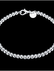cheap -Women's Beaded / Crossover Chain Bracelet / Charm Bracelet - Sterling Silver Classic Bracelet Silver For Christmas Gifts / Wedding / Party