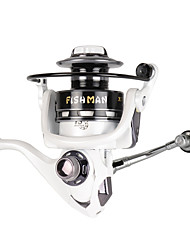 cheap -TXL3000 Superior Quality White Metal Spinning Fishing Reel Fixed Spool Reel 13 +1 BB Bait Casting Reel