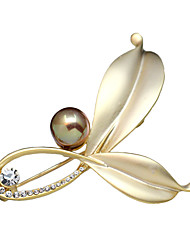 cheap -Women's Crystal Brooches - Imitation Pearl Silver / Golden Brooch For Party / Daily / Casual