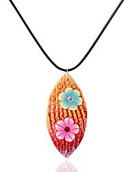 Necklace Pendant Necklaces Jewelry Daily / Casual Adorable Ceramic Orange 1pc Gift