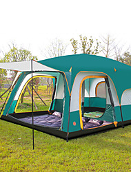 cheap -Shamocamel® 8 person Family Tent Double Layered Poled Instant Cabin Camping Tent Two Rooms Outdoor Waterproof, Well-ventilated, Anti-Insect for Camping / Hiking >3000 mm Polyester, Polyster