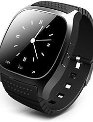 Per uomo Smart watch Digitale Touchscreen Telecomando Calendario allarme Pedometro Fitness tracker Cronometro Gomma Banda Fantastico Di
