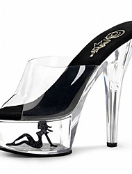 cheap -Women's Shoes PVC(Polyvinyl chloride) Summer / Fall Light Up Shoes / Club Shoes Heels Stiletto Heel / Translucent Heel / Crystal Heel