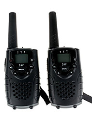 cheap -Durable Walkie Talkie With Earphone Jack UHF 462Mhz FRS/GMRS T667 Twin Walkie Talkie for Children  Up to 6Km(1 Pair Black)