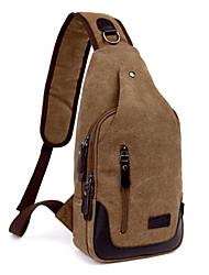 Men Bags Nylon Sling Shoulder Bag with for Casual Outdoor Black Green Khaki
