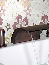 abordables -bronze huilé robinet d'évier cascade salle de bains