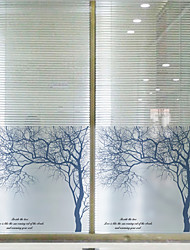 cheap -Window Film Window Decals Style Silver Birch Matte PVC Window Film - (60 x 58)cm