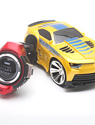baratos -Carro com CR JJRC 2.4G Jipe (Fora de Estrada) Smart Watch Voice Control RC Car 1:24 Electrico Não Escovado 30 KM / H Controlo Remoto