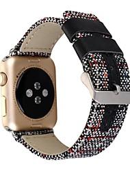 Недорогие -Часовая группа для часов яблока 38mm 42mm pu кожа классический браслет замены пряжки