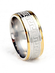 cheap -Men's Titanium Steel Ring Simple The Great Wall Party / Daily / Casual 1pc Band Rings