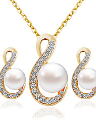 cheap -Women's Jewelry Set Earrings Necklace - Fashion Gold Bridal Jewelry Sets For Wedding Party