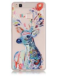 TPU material The New Watercolor Deer Trees Pattern Luminous Phone Case for Huawei P9Lite/P9/P8Lite/Honor 5X