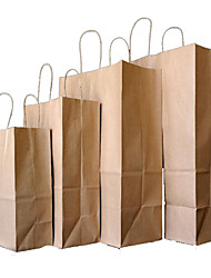Yellow Kraft Paper Bags Gift Packaging Portable Clothing Shoebox Printed Paper Bag A Bag Of Takeout Ten 21 * 27 * 11