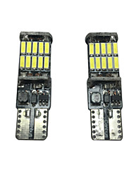 cheap -2PCS 20W VW Golf LED License Plate Lamp Can-bus Error Free Resistance Gold LED Width Lamp LED Interiror Lamp