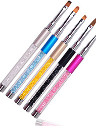 5pcs Crystal Nail carved pen light therapy point pull gradual spread Pastel Brush tool