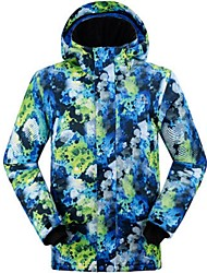 cheap -GQY® Men's Ski Jacket Windproof, Thermal / Warm, Wearable Ski / Snowboard / Winter Sports Polyester Winter Jacket Ski Wear