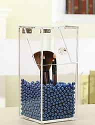 krystal akryl makeup børste opbevaringsboks arrangør tilfældet med perler kosmetiske perle kasse holder læbestift tilfældet til pige