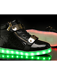 LED Light Up Shoes, Women's Sneakers Spring / Summer / Fall / Winter Comfort Fabric / Tulle Athletic / Casual Flat Heel
