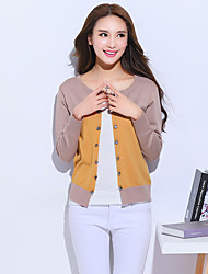 cheap -Women's Cardigan - Patchwork, Classic Style