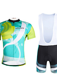 cheap -ILPALADINO Men's Short Sleeves Cycling Jersey with Bib Shorts Bike Clothing Suits, Quick Dry, Ultraviolet Resistant, Breathable,