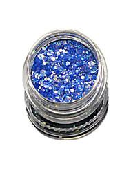 1 Bottle Nail Art Match Color Highlight Glitter Shining Colorful Powder Nail Makeup Beauty 07