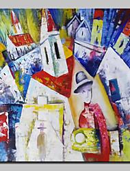 abordables -Château peint à la main célèbres peintures à l'huile sur toile tableau d'art mural moderne avec cadre étiré prêt à accrocher