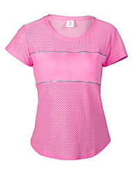 Women's Hiking T-shirt Wearable Breathable Static-free Lightweight Materials Limits Bacteria Ultra Light Fabric Sweat-wicking Comfortable