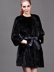 Manteau en Fourrure Aux femmes,Couleur Pleine Décontracté / Quotidien / Soirée / Cocktail / Grandes Tailles Sexy / simple Manches Longues