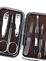 7pcs/Set Nail Clipper Kit Nail Tools Nail Care Scissor Tweezer Knife Ear pick Manicure Set Tools