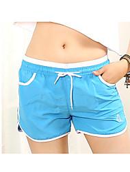 baratos -Mulheres Shorts de Corrida - Amarelo, Azul, Rosa claro Esportes Shorts largos Tamanhos Grandes Roupas Esportivas Secagem Rápida,