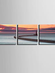 キャンバスセット 風景 欧風,3枚 キャンバス 四角形 版画 壁の装飾 For ホームデコレーション