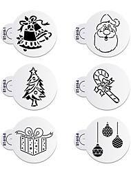 abordables -6 Horneando decoración de pasteles / Alta calidad / Ecológico / Nueva llegada Pastel / Galleta Plástico Moldes para horno