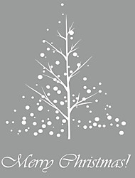 cheap -Wall Stickers Wall Decals Style Christmas Tree New Snow PVC Wall Stickers