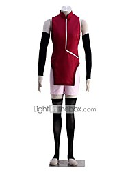 cheap -Inspired by Naruto Uchiha Sarada Anime Cosplay Costumes Cosplay Suits Solid Sleeveless Vest Gloves Shorts For Women's