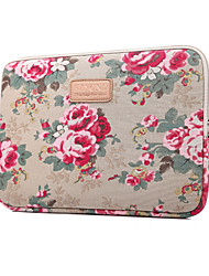 "Sleeve for Macbook 12"" Macbook Air 11""/13"" MacBook Pro 13"" MacBook Pro 13"" with Retina display Flower Textile Material Peony pattern Shakeproof"