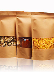 Dried Fruit Tea Baking Paper Bags Ziplock Bags Kraft Paper Food Bags A Pack Of Ten Self Window