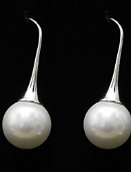 cheap -Women's / Couple's Cute / Adorable Pearl - Personalized / Vintage / Party White Round Earrings For Wedding / Party / Daily