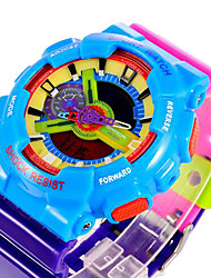 cheap -SANDA® Unisex Candy Color Fashion Sport Analog Digital Double Time Waterproof Quartz Watch Fashion Wrist Watch Cool Watch