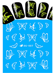 1pcs Nail Art Water Transfer Noctilucent Sticker Beautiful Butterfly Decoration Nail Beauty DG-007