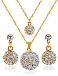 cheap -Women's Jewelry Set Earrings Necklace - Golden Bridal Jewelry Sets For Wedding