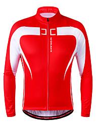 WOSAWE Veste de Cyclisme Unisexe Vélo Shirt Anorak fleece / Polaires Maillot Veste d'Hiver Hauts/Tops Garder au chaud Doublure Polaire