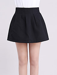 cheap -Women's Plus Size Daily Mini Skirts, Casual Sexy A Line Others Solid All Seasons