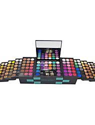150 Fard+Ombretti+Basi labbra+Applicatore per polvere/Spugnetta Luccicante Viso Occhi Gloss colorati Naturale Cina