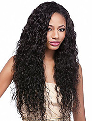 cheap -Synthetic Lace Front Wig Wavy Synthetic Hair Black Wig Women's Lace Front Wig