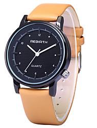 levne -REBIRTH Pánské Křemenný Náramkové hodinky / Žhavá sleva PU Kapela Na běžné nošení Módní Černá Bílá