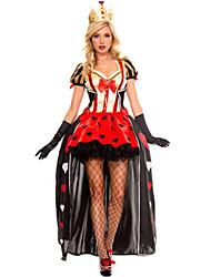 Reine Conte de Fée Costumes de Cosplay Costume de Soirée Féminin Halloween Fête d'Octobre Fête / Célébration Déguisement d'Halloween Rouge